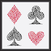 Playing Card Suits — Vettoriale Stock