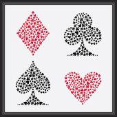 Hrací karty obleky — Stock vektor