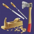 Joiner's tools — Vector de stock #10046453