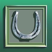 Framed horseshoe — Stock Vector