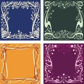 Four floral backgrounds — Stock Vector