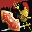 Royalty-Free Stock Vector Image: Gladiators armament