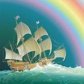 Galleon Mayflower — Stock Vector