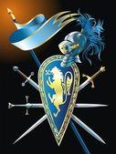 Heraldic background — Stock Vector