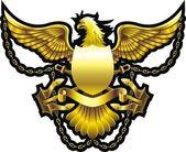 Gold eagle — Stock Vector