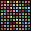 100 flowers - Stock Vector