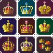 Stock Vector: Crowns