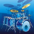 Stock Vector: Drum kit