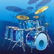 Drum kit — Stock Vector