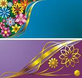 Flower backgrounds — Stockvektor