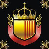 Scudo e corona — Vettoriale Stock