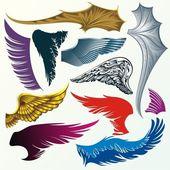 Various version of wings — Stock Vector