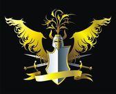 Złote skrzydło — Wektor stockowy