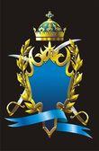 Heraldry badge — Stock Vector