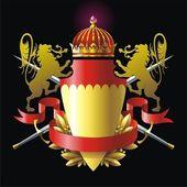 Heraldry badge with lions — Stock Vector