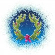 Royalty-Free Stock Imagem Vetorial: Christmas wreath