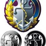 Marine style emblem — Stock Vector #10482065