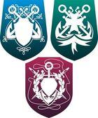 Three shields — Stock Vector