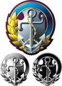 Marine style emblem — Stock Vector