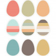 Easter eggs scrapbook on white - Stock Vector