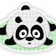 Stock Vector: Cute Panda.