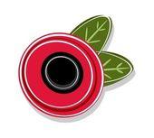 Red poppy flower — Stock Vector