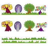 Lot of trees imagination — Stock Vector