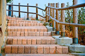 Outdoor steps — Stock Photo