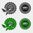 Stock Vector: Set of organic badges