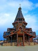 Wooden church in Minsk — Stock Photo