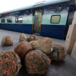 Stock Photo: Train in India