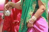 Frau saree — Stockfoto