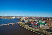 Townscape of Vyborg from a tower — Stock Photo
