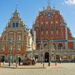 Stock Photo: Blackheads house in the Riga
