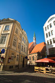 Beautiful sunny day in Riga — Stock Photo