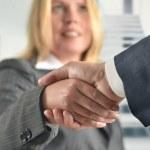 Businesswomen handshake to seal a deal — Stock Photo #10071423