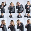 Businesswoman is singing series — Stock Photo #10072238
