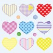 Set hearts and buttons — Stock Vector #10046908