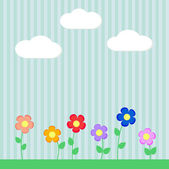 Background with flowers for scrapbook — Stock Vector