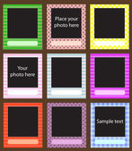Vector photo frame set for scrapbook — Stock Vector