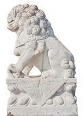 Leão de pedra branca — Foto Stock