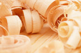 Fresh wood shavings — Stock Photo
