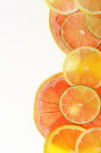 Lime lemon grapefruit and orange slices — Stock Photo