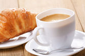 Coffee with croissants — Stock Photo