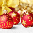Decorations with gift box — Stock Photo #10150462