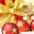 Red Christmas balls — Stock Photo #10150492