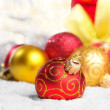 Red Christmas balls — Stock Photo #10150694