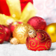 Red Christmas balls — Stock Photo #10150715