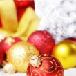 Red Christmas balls — Stock Photo #10150720