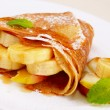 Crepes with maple sirup - Stock Photo